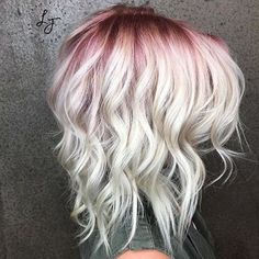 Beautiful hot pink hair color ideas to makes you looks stunning 60 Ombre Hair, Pink Hair, Gray Hair, White Hair, Blue Hair, Non Blondes, Hair Color And Cut, Blonde Hair With Color, Blonde Hair Red Roots