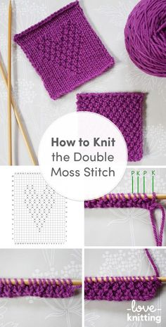 FREE Knitting Pattern tutorial by Anna Nikipirowicz. Learn how to knit double moss stitch in our FREE blog post. Find more beautiful knitting stitch tutorials on the LoveKnitting blog.
