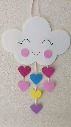 diy decoracao festa chuva amor eva for likes pictures Spring Crafts For Kids, Paper Crafts For Kids, Diy Home Crafts, Easter Crafts, Diy For Kids, Valentine Crafts, Diy Paper, Toddler Crafts, Preschool Crafts