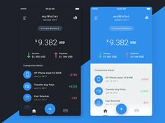 """다음 @Behance 프로젝트 확인: """"Wallet App Dark Version"""" https://www.behance.net/gallery/47382845/Wallet-App-Dark-Version"""