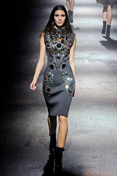 Embellished wool dress.  #Lanvin #Paris #FashionWeek