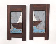 Diptych Scene by birdmouse Reclaimed Wood Furniture, Bookends, Storage, Handmade Gifts, Artwork, Wood Wall, Etsy, Color, Vintage