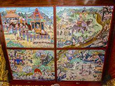 Deckenbilder in Wat Chaimongkon