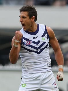 Matthew Pavlich Photos Photos: AFL Rd 14 - Collingwood v Fremantle Athletic Men, Pittsburgh Steelers, My Boys, Melbourne, Athlete, Tank Man, Football, Guys, Sports