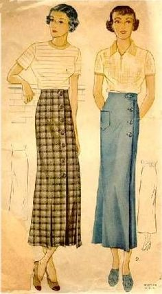 1930s Skirt Pattern | Sense & Sensibility Patterns