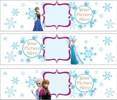 Disney Princess Frozen Water Bottle Labels with by KiMFDesigns, $4.00