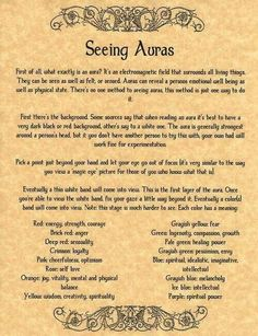 Auras - Pinned by The Mystic's Emporium on Etsy