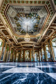 Hall of Ambassadors, Queluz National Palace, Portugal