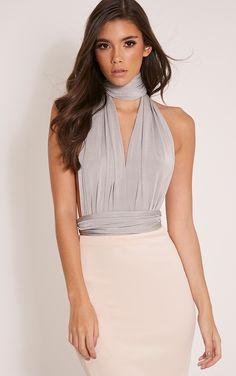 Liddia Silver Multiway Bodysuit Image 1