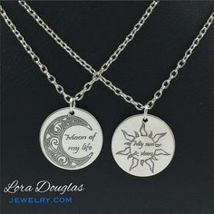 Moon of My Life, My Sun and Stars, Game of Thrones, hypoallergenic jewelry, Necklace, Long Necklace, Moon, Star, GoT