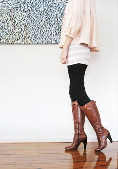 I'm very picky about my boots. They must be tall. Heels. Equestrian style. With buckles.