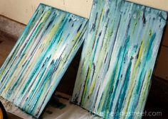Sarah Hutt, show me how to do this! Another girls wine night at my house? Yes! DIY Drip Painting