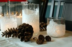 DIY Snow Drift Candle Holders - Beautiful, festive and easy