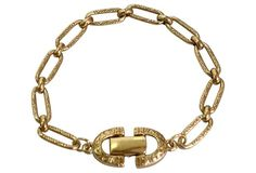 Givenchy Textured Gold-Plated Bracelet