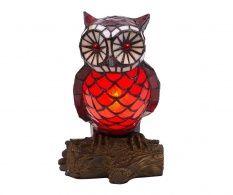 Noční lampa Owl White Red