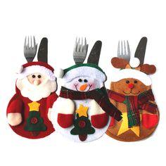 6Pcs New Year Merry Chirstmas Knife Fork Cutlery Set Skirt Pants 2016 Navidad Natal Christmas Decorations for Home Xmas HK012 //Price: $13.00 & FREE Shipping //     #hashtag4