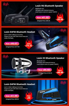 Lexin Bluetooth Motorcycle Helmet, Super Deal, Bluetooth Speakers, Official Store
