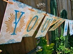 You're Getting Hitched Paper Garland Party Banner Great Wedding Shower Decor. $16.00, via Etsy.
