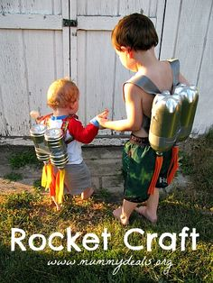 This Rocket Craft was a huge hit with my son and his friends. Simple, cheap and they can help you make it! #mummydeals.org #kids #crafts #kidcraft