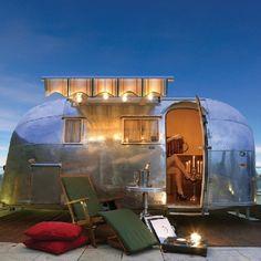 Morgan Hotel, Dublin IRELAND   - Airstream caravan on penthouse terrace  dressmesweetiedarling