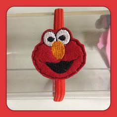 Elmo Red Monster Elastic Headband made by Princess Hair Bling available on Etsy