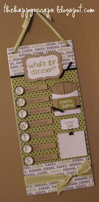 The Happy Scraps: What's for Dinner? - Magnetic Menu Board