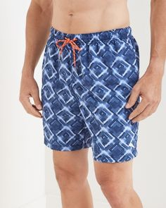 Tommy Bahama - Naples Tile Be Seeing You 6-inch Swim Trunks