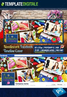 Sewing & Stitching Facebook Cover