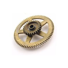 Steampunk Clock Gear Brass Vintage Old Fancy Jewelry Art 34.4mm ::... ($15) ❤ liked on Polyvore