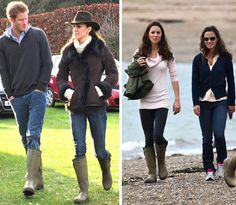 Kate #Middleton Le Cheameau #wellies