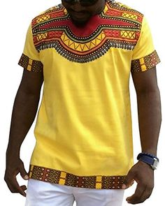 f67019a2f6f7 SALE PRICE -  9.89 - Feel Show Men s Casual Short Sleeve African Print  Dashiki T-