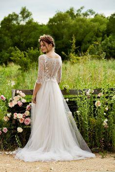 "Love Marley ""Amelie"" Wedding Dress Spring 2015  Now available at Adore Bridal Boutique! www.adorebridalga.com www.facebook.com/adorebridalga"