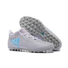 Adidas X 17.3 TF Football Boots White Black Blue Zapatos De Fútbol 23c7e58d094bc