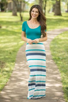 Drifting With The Tide Maxi Dress