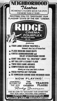 Ridge Cinema Fourplex - 1983