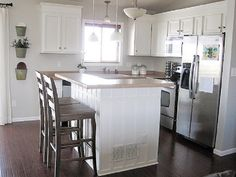 Simple Small Ideas : Simple Small L Shaped Kitchen With White Cabinets Image id 33952 - GiesenDesign