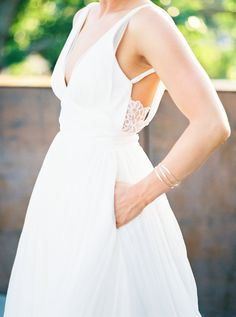 Peekaboo lace detail: http://www.stylemepretty.com/washington-weddings/seattle/2016/05/11/this-seattle-wedding-has-the-ultimate-cool-factor/   Photography: Alexandra Grace Photo - http://alexgracephotography.com/
