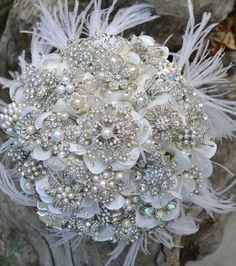 Deposit for an heirloom rich pearl brooch bouquet with by Noaki, $325.00