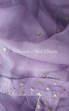 Discover thousands of images about Lilac Organza Saree Organza Saree, Net Saree, Chiffon Saree, Silk Sarees, Silk Kurti, Saris, Embroidery Suits Punjabi, Zardozi Embroidery, Hand Embroidery