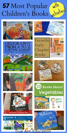 57 Most Popular Children's Books with activities, snack ideas, and more!