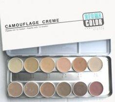 Dermacolor Palette mit 12 Farben