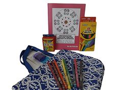 Adult Coloring Book Gift Set Bundle - 6 Items: Markers, Crayons, Colored Pencils, Sharpener, Easy to See Large Print Easy Level Coloring Book of Mandalas & Patterns and Satin Tote Bag (Blue Damask) Hot Pink Girl, iScholar, Crayola http://www.amazon.com/dp/B015GAB9IU/ref=cm_sw_r_pi_dp_3Bskwb0XVFA1K