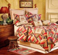Wilderness Lodge Quilt Set. $321. This rustic lodge quilt set is a great way to make your cabin warm and cozy. Wilderness theme bedding, cabin bedding, lodge bedding.