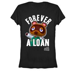 Nintendo Animal Crossing Forever A Loan Juniors S Graphic T Shirt - Fifth Sun Animal Crossing Redd, Animal Crossing Funny, Animal Crossing Characters, Black Media, Look Cool, Fitness Fashion, Graphic Tees, Shorts, Mens Tops