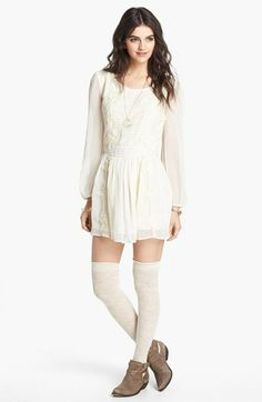 e41ba5229b Free People  Leigh  Long Sleeve Lace Dress available at  Nordstrom Pin  Tucks