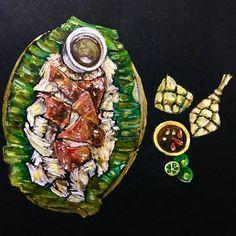 Lechon ug Poso ❤️#art #artph #lechon #acrylicpainting #foodart #cebu #cebuart #painting #foodpainting #cebuinstagram