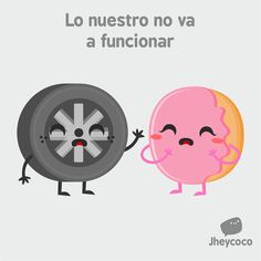 #jheycoco #humor #ilustración #cute #tierno #llanta #rosquilla #amor #rueda