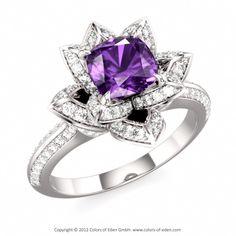 Amethyst Lotus Ring at Eden, pretty