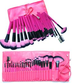 http://mymakeupbrushset.com/products/hot-pink-24-piece-make-up-brush-set #mybrushset #makeup #makeupbrushes #makeupbrush #makeupforever