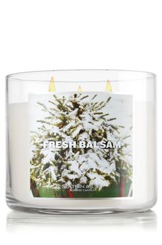 Fresh Balsam 14.5 oz. 3-Wick Candle - Slatkin & Co. - Bath & Body Works    This is Cody's #1 all-time favorite thing in the world... is this candle scent from Bath and Body Works. Sometimes they run a sale, 2 for $20
